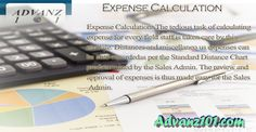 Expense Calculation: The tedious task of calculating expense for every field staff is taken care by this module. Distances and miscellaneous expenses can be auto-recorded as per the Standard Distance Chart predetermined by the Sales Admin. The review and approval of expenses is thus made easy for the Sales Admin. http://www.advanz101.com/category/sfa/