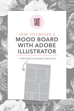 You probably think those color mood board are pretty and fun to look at, but as a graphic designer that does brand design they serve a much more important purpose to us. I'm going to share with you why you need one and how to create a mood board with Illustrator.
