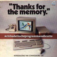 Rilasciato il 1°gennaio 1985, Il commodore 128 (C128, CBM 128, C=128) home/personal computer è stato l'ultimo computer a 8 bit rilasciato dalla Commodore Business Machines (CBM).   #chihadettocheprogrammareèbrutto  #commodore #commodorecentoventotto