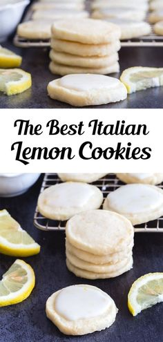 Perfect melt in your mouth Lemon Cookies. If you love anything lemon then you are going to love these cookies. Light and easy to make, with a tasty lemon glaze, they are sure to satisfy any lemon lover! This easy lemon cookie recipe is great for summer or anytime you fancy a citrusy treat! #lemoncookies #cookies Italian Lemon Cookies, Lemon Cookies Easy, Yummy Cookies, Citrus Recipes, Bar Recipes, Fruit Recipes, Wine Cookies, Cookies Light, Creative Desserts