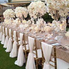 all white wedding decor All White Wedding, Our Wedding, Dream Wedding, Trendy Wedding, White Weddings, Taupe Wedding, Wedding Vintage, Indian Weddings, Intimate Weddings