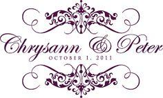 Custom wedding monograms for Chrysann