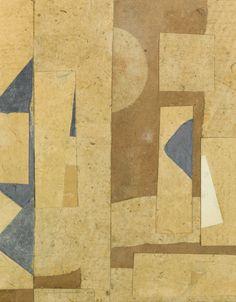 Kurt Schwitters 1887 - 1948 OHNE TITEL, HELL- UND DUNKELBRAUN (UNTITLED, LIGHT…
