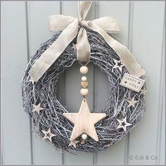 Christmas Christmas Mood, Noel Christmas, Homemade Christmas, Christmas Ornaments, Diy Wreath, Door Wreaths, Moss Wreath, Navidad Diy, Theme Noel