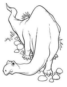 Dibujo colorear dinosaurio Brontosaurio