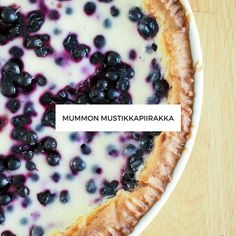 Mummon Mustikkapiirakka Pie Recipes, Vegan Recipes, Dessert Recipes, Vegan Cake, Vegan Desserts, Finnish Recipes, Vegan Gains, Vegan Muscle, Vegan Animals