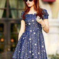 Starry Blue Dress