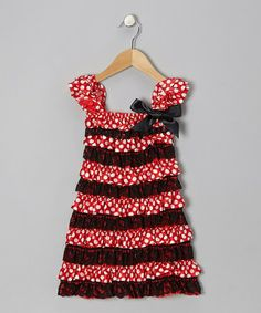 Red Polka Dot Ruffle Cap-Sleeve Dress - Infant, Toddler & Girls by Tutus by Tutu AND Lulu on #zulily today!