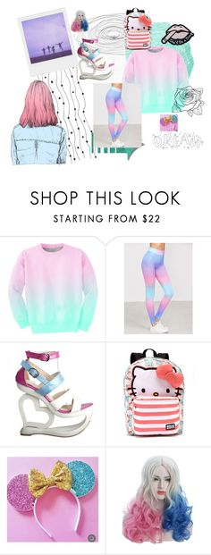 """Cotton Candy"" by swoodyard405268 on Polyvore featuring Aloha From Deer and Hello Kitty"