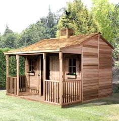 THE CEDARSHED RANCH HOUSE shed kits offer you a wonderful new living space in your backyard. Prefab cottage kits are available in 4 sizes and are made of Western Red Cedar. What an amazing addition to your back yard.