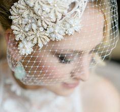 Our Daisy birdcage  Photo credit: Julia Winkler #Bridaltribe #Veil #Love