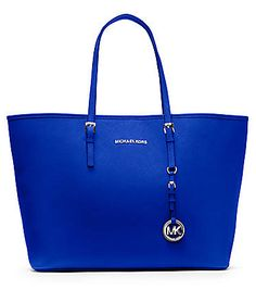 The perfect tote by Michael Kors cobalt blue leather tote