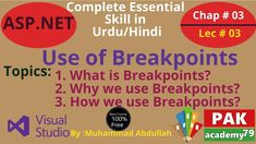 Asp.net: Use of Breakpoints in Debugging [Ch # 03 | Lec # 03] Teaching Methods, Programming Languages, Web Application, Fractions, Textbook, Education, Reading, Onderwijs, Learning