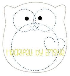 Plushie Owl - Template - Felt