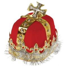 Adult Size Royal Red King's Crown - Costume Hats superstore | Party Supply Store | Novelty Toys | Carnival Supplies | USToy.com