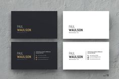 Clean Business Card by ThemeDevisers on @creativemarket