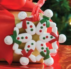 Jeni wish I would have seen these earlier...how cute are these...Sculpey® Snowman Snowflake