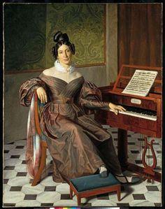 Retrato de Isabella Colbrán, por Johann Baptist Reiter, ca. 1835