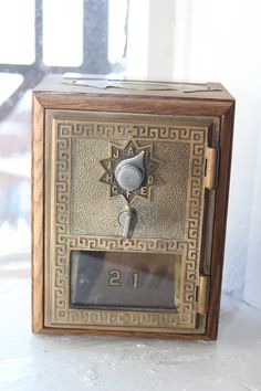Wooden PO Box / Post Office Box bank by AnotherWomansJunk on Etsy, $29.50