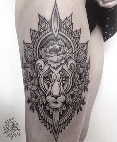 WEBSTA @ she_is - Lioness  #tattoo #tatt #tattooinrussia #wowtattoo #blackwork #blacktattoo #dotwork #dotworktattoo #inkmachines #blacktattooart #ink #inked #blackworkerssubmission #equilattera #blackworkers #onlyblackart #darkartists #blacktattoomag #TAOT #btattooing  #inkstinktsubmission #дотворк  #тату #татуировка #inkmetattooteam #kristinadarmaeva