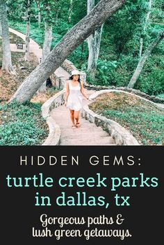 Turtle Creek Parks: Hidden Dallas Gems Looking for some great parks in Dallas? You've got to visit these hidden gems. Filled with lush green trees, you'll feel like you're not in Dallas anymore! Hiking In Texas, Texas Roadtrip, Texas Travel, Travel Usa, Texas Tourism, Solo Travel, Cool Places To Visit, Places To Travel, Hiking Places