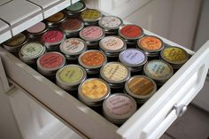 Nifty idea for loose tea.  Tea Drawer by PatchworkPottery