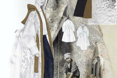 Fashion Sketchbook - fashion design drawings & fabric research; collection development; fashion portfolio // Amanda Svart