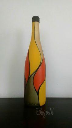 Garrafa pintada.♻️🎨 #acrilex  #acrilexte botellas pintadas rapia