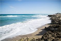 Teal waves at Ross Witham Beach and the House of Refuge Beach on Hutchinson Island, Florida in Martin County | What to do in Stuart, Florida | Crystal Bolin Photography | Stuart Photography | Stuart WeddingPhotographer | House of Refuge Wedding Photographer | Palm Beach Wedding Photographer