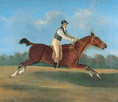 William Hutchinson of Canterbury on 'Staring Tom' Riding from Canterbury to London Bridge in 2 hours 25 minutes and 51 seconds on Thursday 6 May 1819