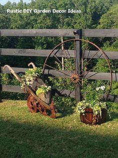 Garden Yard Ideas, Lawn And Garden, Garden Projects, Garden Art, Garden Design, Garden Junk, Garden Fencing, Fence Design, Garden Table