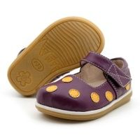 Purple with Gold Toddler Polka Dot Mary Jane