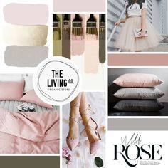 Final Blush Mood Board Created by Passion for Pixels Design on How to Create a Mood Board for Your Brand