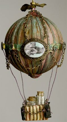 steam punk balloon-idea for garden mobile/wind chime