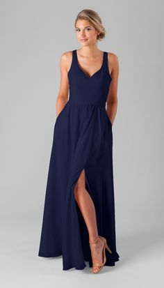 I love this navy dress as a bridesmaid dress!