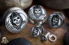 Steel screw fit Sons of Anarchy reaper plugs