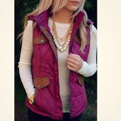 Cabin Fever Magenta Puffer Vest | Amazing Lace