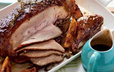 Roast duck with sticky orange sauce Roast Duck, Recipe Search, Quail, Baking Recipes, Delicious Desserts, Pork, Turkey, Orange, Dinner