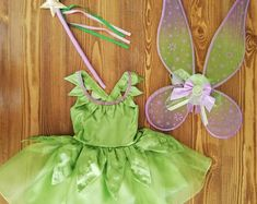 Perfect to any occasion first skirt with shiny organza fabric at the top, and at the bottom it has two frills so that the dress becomes wider Tinkerbell Costume Kids, Tinkerbell Dress, Adult Mickey Mouse Costume, Frozen Costume Adult, Avatar Costumes, Batman Costumes, Disney Costumes, Adult Costumes, Costumes For Women