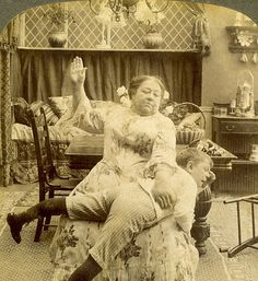 """In trouble wooooahhh she sure looks mean, poor little lad. Victorian Photos, Antique Photos, Vintage Photographs, Victorian Era, Vintage Images, Art Nouveau, Belle Epoque, Old Pictures, Old Photos"