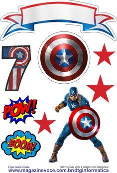 Captain America Party, Captain America Birthday, Doll House For Boys, Superhero Room Decor, Cartoon Download, Superhero Birthday Party, Disney Scrapbook, Arte Pop, Pop Art