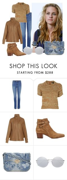 """""""Untitled #4558"""" by caroba ❤ liked on Polyvore featuring J Brand, Marc by Marc Jacobs, Derek Lam, Yves Saint Laurent, Valentino, Linda Farrow and Armenta"""