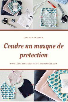 Un article qui vous aidera dans la confection de masque de protection. Vous y trouverez aussi les liens utiles (tuto du CHU de Grenoble, page Facebook d'entraide). #tuto #couture #facile #entraide #masque #masqueprotection Coin Couture, Couture Sewing, Thing 1, Creation Couture, Protective Mask, Textiles, Sewing Tutorials, Tutorial Sewing, Diy Clothes
