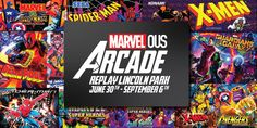 Marvel-Themed Marvelous Arcade Pop-Up Bar Is Opening at Replay Lincoln Park   UrbanMatter Marvel Vs Street Fighter, Street Fighter Arcade, Chicago Bars, Skee Ball, Pop Up Bar, Ride The Lightning, Hulk Smash, Replay, Guardians Of The Galaxy