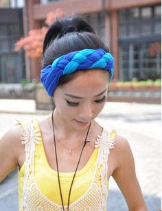 Woven Headbands Cotton Spandex Workout Hair Bands by JCBBoutique cfe52165dc9