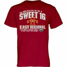Iowa State Cyclones 2014 NCAA Men's Basketball Tournament Sweet 16 T-Shirt - Cardinal
