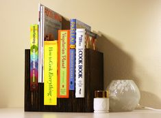 DIY Anthropologie inspired bookshelf | I think I pinned the original from Anthro months ago! I'd love this.