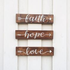 And now these three remain: faith, hope and love. But the greatest of these is love.  1 Corinthians 13:13  ~ one-word arrow sign ~ hand painted