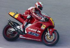 Eddie Lawson riding the Cagiva
