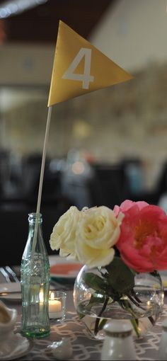 Gold Flag Table Numbers  $55